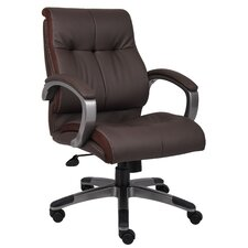 <strong>Boss Office Products</strong> Mid-Back Double Plush Executive Chair