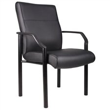 Leather Guest Chair with Steel Legs