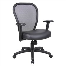 <strong>Boss Office Products</strong> Professional Mid-Back Mesh Managerial Chair