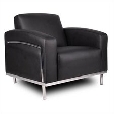 <strong>Boss Office Products</strong> Lounge Chair with Chrome Frame