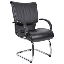 <strong>Boss Office Products</strong> Leather Guest Chair with Mid Back