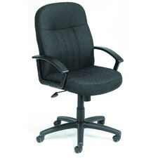 <strong>Boss Office Products</strong> Mid-Back Fabric Executive Chair
