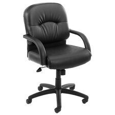 <strong>Boss Office Products</strong> Mid-Back Caressoft Managerial Chair