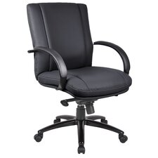 <strong>Boss Office Products</strong> Aaria Elektra Mid-Back Executive Chair with Arms