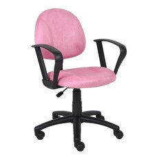 <strong>Boss Office Products</strong> Microfiber Deluxe Posture Chair with Loop Arms