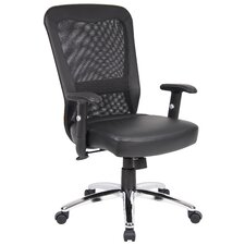 <strong>Boss Office Products</strong> High-Back Office Chair with Arms