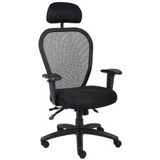High-Back Mesh Office Chair with Headrest