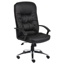 <strong>Boss Office Products</strong> High-Back Leatherplus Office Chair with Arms