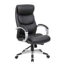 High-Back Executive Office Chair with Hinged Arms