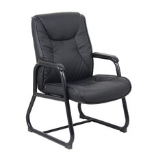 High-Back Leatherplus Guest Chair with Arms