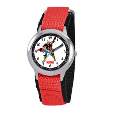 Kid's Hulk Time Teacher Watch in Red