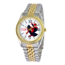 Men's Spider-Man Two-Tone Status Watch
