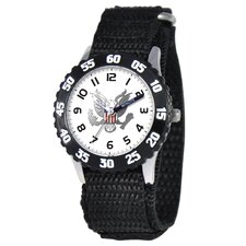 Kid's Military Army Time Teacher Watch in Black