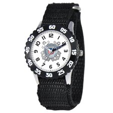 Kid's Military Coast Guard Time Teacher Watch in Black