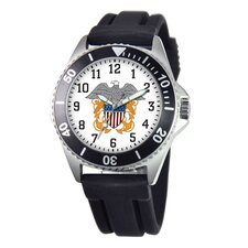 Men's U.S. Navy Honor Rubber Strap Watch