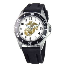 Men's U.S. Marine Corps. Honor Rubber Strap Watch