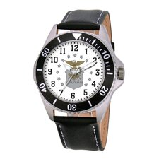 Men's U.S. Air Force Honor Leather Strap Watch