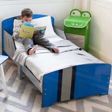 Classically Cool Racing Stripes Toddler Panel Bed
