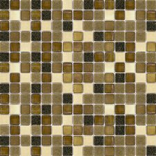"<strong>Surfaces</strong> Elida Glass 13"" x 13"" Mosaic in  Multi Grain"