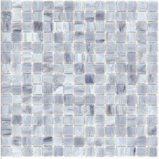 Elida Glass Mosaic in Silver Cloud