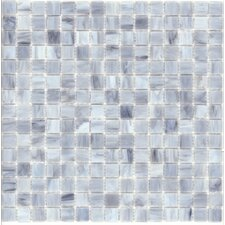 "Elida Glass 13"" x 13"" Mosaic in Silver Cloud"