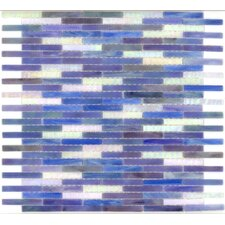 "<strong>Surfaces</strong> Elida Glass 14"" x 13"" Mosaic in Ocean Brick"