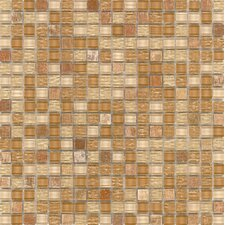 "Elida Glass 12"" x 12"" Mosaic in Sand Stone"