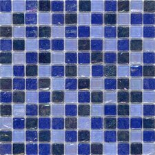 "<strong>Surfaces</strong> Elida Glass 12"" x 12"" Mosaic in Sea Oil"
