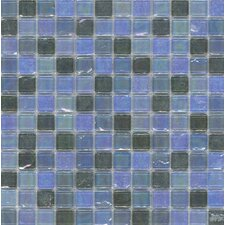 "Elida Glass 12"" x 12"" Mosaic in Silver Oil"