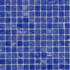 "<strong>Surfaces</strong> Elida Glass 12"" x 12"" Mosaic in Cobalt Oil"