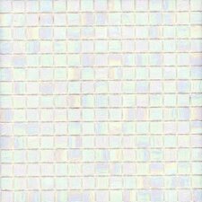 "Elida Glass 13"" x 13"" Mosaic in Pearl"