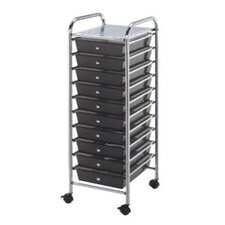 Blue Hills Studio Storage Cart with Ten Drawers