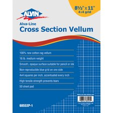 Cross-Section Drawing Paper Grid (Set of 50)