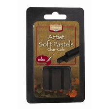 Char-Cole Compressed Pastels (Set of 3)