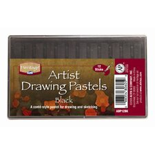 Black Drawing Pastels (Set of 12)