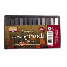 Graytone Drawing Pastels (Set of 12)