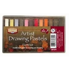 Portrait Drawing Pastels (Set of 12)