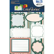 Colorstories Embossed Cardstock Stickers (Set of 6)
