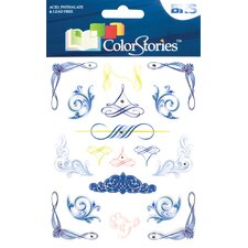 Colorstories Jeweled Rub Ons (Set of 19)