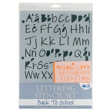 Back to School Lettering Stencil Set