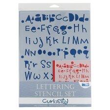 Curiosity Lettering Stencil Set