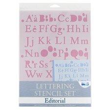 Editorial Lettering Stencil Set