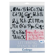 Contempo Lettering Stencil Set