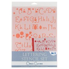 Clean Curves Lettering Stencil Set