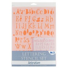 Animation Lettering Stencil Set