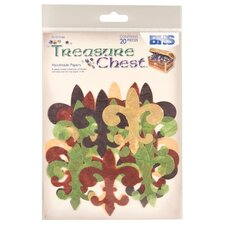 Treasure Chest Fleur De Lys Die-cuts (Set of 20)
