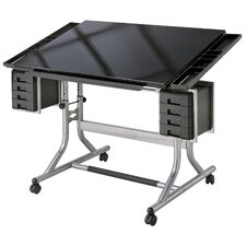 Craft Master II Deluxe Art & Drawing Glass Top Table