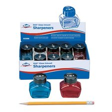 Glass Inkwell Assortment Sharpener Display