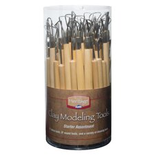 Clay Modeling Tool Assortment (Set of 69)