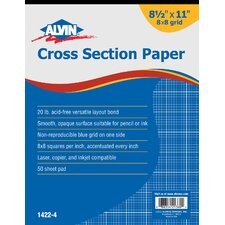 <strong>Alvin and Co.</strong> Cross Section Paper Grid Pad (Set of 50)